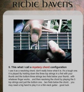 Richie Havens' mystery chord